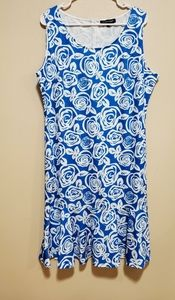Blue & white summer dress